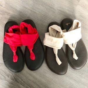 Sanuk • Bundle of 2 Thong Yoga Sling Sandals